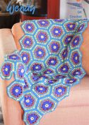 Wendy Home Flower Blanket Love It Crochet Pattern 6041  DK
