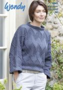 Wendy Ladies Sweater Love It Knitting Pattern 6043  DK