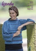 Wendy Ladies Sweater Aurora Knitting Pattern 6045  DK