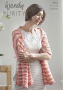 Wendy Ladies Shawl Purity Crochet Pattern 6051  Aran