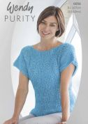 Wendy Ladies Top Purity Knitting Pattern 6056  Aran