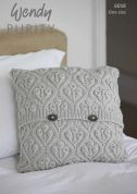 Wendy Home Cushion Purity Knitting Pattern 6058  Aran