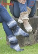 Wendy Ladies Socks Stella Knitting Pattern 6063  Chunky