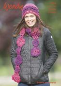 Wendy Ladies Hat, Scarf & Beanie Stella Crochet Pattern 6064  Chunky
