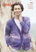 Wendy Ladies Cardigan Stella Knitting Pattern 6065  Chunky