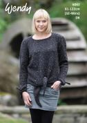 Wendy Ladies Sweater with Ties Harris Knitting Pattern 6082  DK