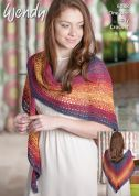 Wendy Ladies Shawl Anaphora Crochet Pattern 6088  4 Ply