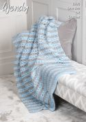 Wendy Throw With Wool Crochet Pattern 6095  DK
