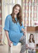 Wendy Ladies Tunic Top Supreme Cotton Knitting Pattern 6119  DK