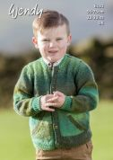 Wendy Kids Cardigan Aurora Knitting Pattern 6131  DK
