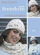 Twilleys of Stamford Ladies Hat & Scarf Freedom Crochet Pattern 9012  Super Chunky