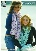 Twilleys of Stamford Ladies Scarf & Mittens Freedom Knitting Pattern 9055  Super Chunky