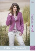 Twilleys of Stamford Ladies Jacket Freedom Knitting Pattern 9084  Super Chunky