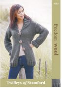 Twilleys of Stamford Ladies Cardigan Freedom Knitting Pattern 9085  Super Chunky
