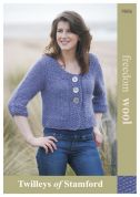Twilleys of Stamford Ladies Cardigan Freedom Knitting Pattern 9086  Super Chunky