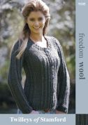 Twilleys of Stamford Ladies Jacket Freedom Knitting Pattern 9105  Super Chunky