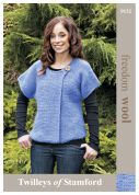 Twilleys of Stamford Ladies Cardigan Freedom Knitting Pattern 9132  Super Chunky