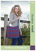 Twilleys of Stamford Accessories Felted Bag Freedom Knitting Pattern 9190  Super Chunky