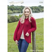 Twilleys of Stamford Ladies Jacket Knitting Pattern 9206  Aran