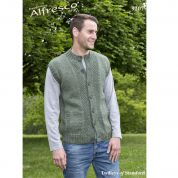 Twilleys of Stamford Mens Waistcoat & Cardigan Knitting Pattern 9207  Aran