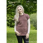 Twilleys of Stamford Ladies Tunic Top Knitting Pattern 9209  Aran