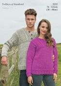 Twilleys of Stamford Mens & Ladies Sweaters Freedom Knitting Pattern 9212  Super Chunky