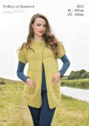 Twilleys of Stamford Ladies Cardigan Freedom Knitting Pattern 9213  Super Chunky