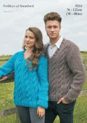 Twilleys of Stamford Mens & Ladies Sweaters Freedom Knitting Pattern 9214  Super Chunky