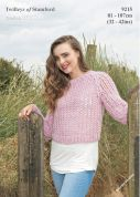Twilleys of Stamford Ladies Sweater Freedom Knitting Pattern 9215  Super Chunky