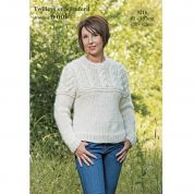 Twilleys of Stamford Ladies Sweater Freedom Knitting Pattern 9216  Super Chunky