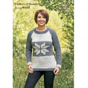 Twilleys of Stamford Ladies Sweater Freedom Knitting Pattern 9218  Super Chunky