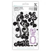 DoCrafts XCut Large Dies Floral Flourishes