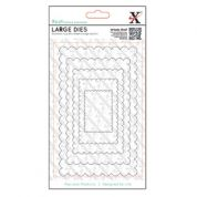 DoCrafts XCut Nesting Dies Large Scalloped Rectangles