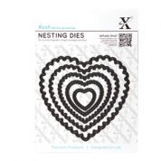 DoCrafts XCut Nesting Dies Scalloped Hearts