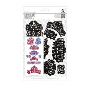 DoCrafts XCut A5 Die Set Ornate Sentiments