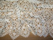 Yenny Embroidered Guipure Couture Bridal Lace Fabric  Ivory