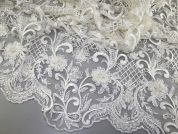 Zoey Lace Fabric  Ivory
