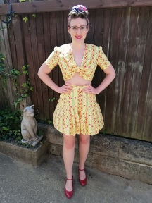 1940s Summery Two Piece