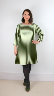 A Classic Tilly and the Buttons Coco Dress with a Twist of Lime