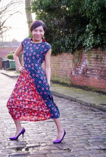 A Cotton and Steel Flounce Dress