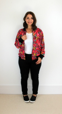 A Fun Floral Bomber Jacket - McCall's M7100