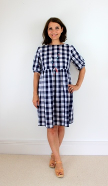 A Gingham Burda 6401 With Added Embroidery