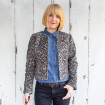 A Lovely Leopard Print Coco Jacket