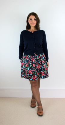A Winter Floral Sew Over It Tulip Skirt.