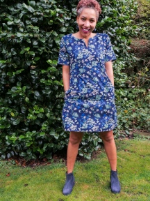 AGF Denim Painterly Wash Dress