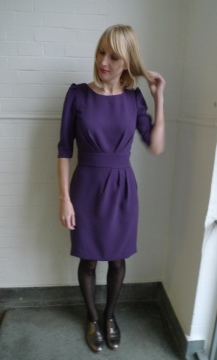 Aubergine Crepe Dress