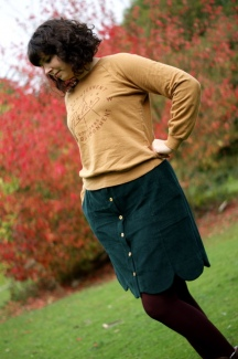 Autumn Corduroy Skirt