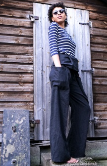 Black Linen Nehalem Pants