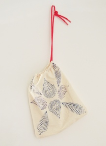 Block Printed Drawstring Bags