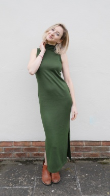 Bottle Green Nikko Dress